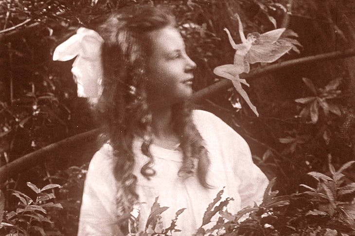 One of the 'Cottingley hoax' photographs, the work of two young girls in 1917, which famously hoodwinked Sir Arthur Conan Doyle