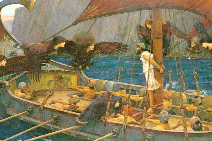 Painting of Odysseus and the Sirens by John William Waterhouse (1891)