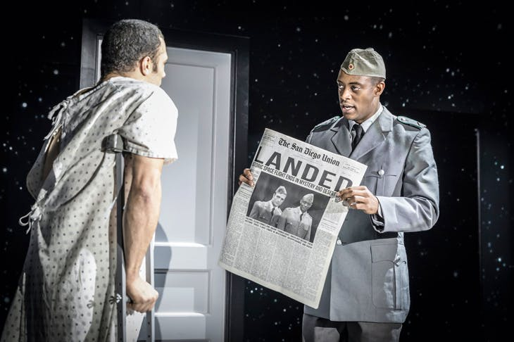 Missing in action: Cosmo Jarvis and Oliver Alvin-Wilson in The Twilight Zone at the Almeida