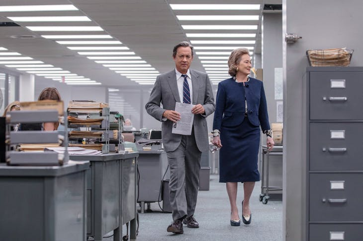 Have they got news for you: Tom Hanks as Ben Bradlee and Meryl Streep as Katharine Graham in The Post