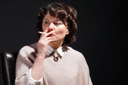 Monica Dolan as Tessa in The B*easts. Photo: Alan Harris