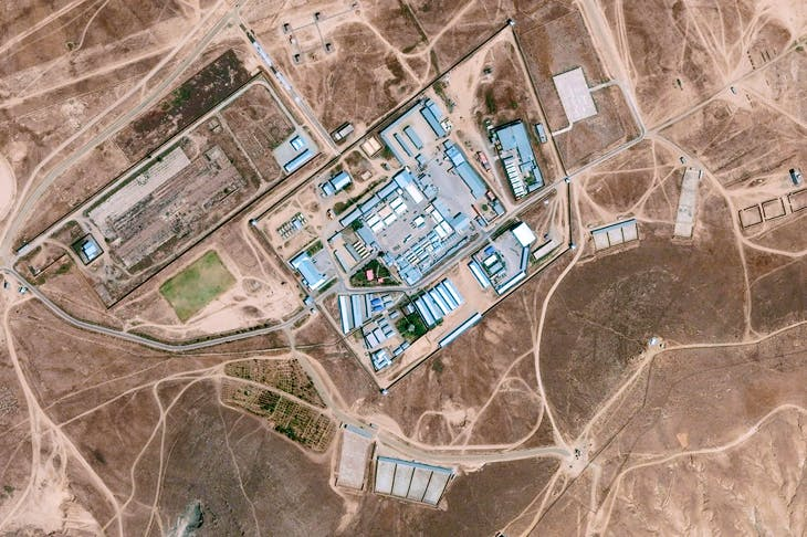Aerial view of the 'Salt Pit', the CIA's clandestine detention centre north of Kabul, which opened in September 2002. Detainees were kept chained in total darkness, with loud music playing constantly