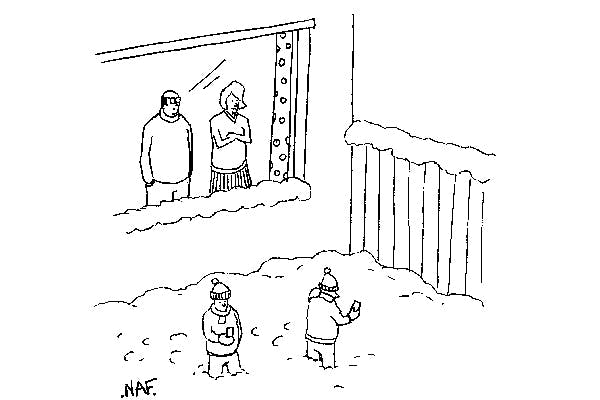 'Nice to see the kids out playing in the snow.'