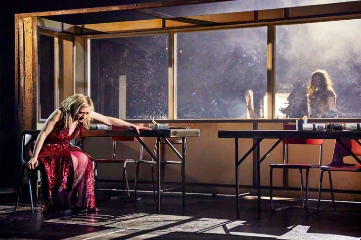 Anne-Marie Duff as Lady Macbeth in Macbeth at the National Theatre