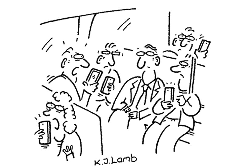 'Excuse me, would you mind complaining about our phones more quietly?'