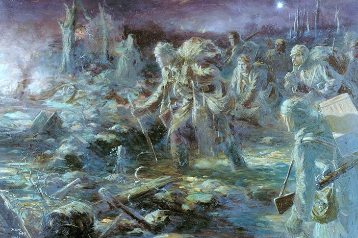 Ragged spectres, half sunk in mud, half lost in shadow: Joseph Gray's unnerving 'A Ration Party'