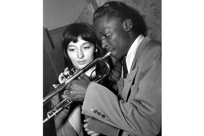 Juliette Gréco and Miles Davis at the Salle Pleyel, Paris, c. 1949