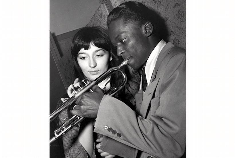 Juliette Gréco and Miles Davis at the Salle Pleyel, Paris, c. 1949