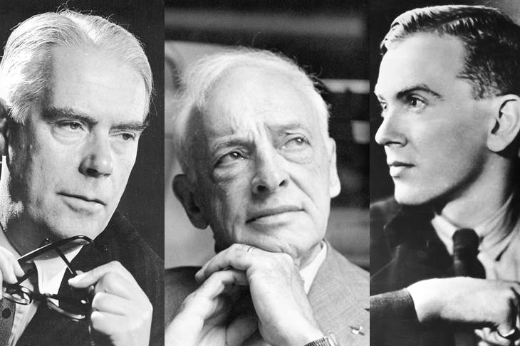 Saul Bellow (centre): 'He said he felt like Valjean, pursued by Inspector Javert through the sewers of Paris,' says James Atlas. Above and left: Graham Greene and Anthony Powell were both better biographers than biographees
