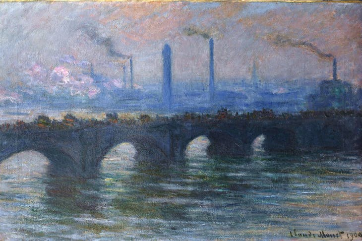 'Waterloo Bridge, Overcast Weather' (1899-1903)