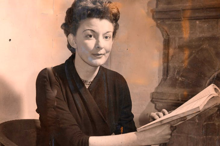 Pamela Lane in 1957, the year after Look Back in Anger was first performed. On seeing the play, she was heard to exclaim: 'Oh no, not the ironing board...'