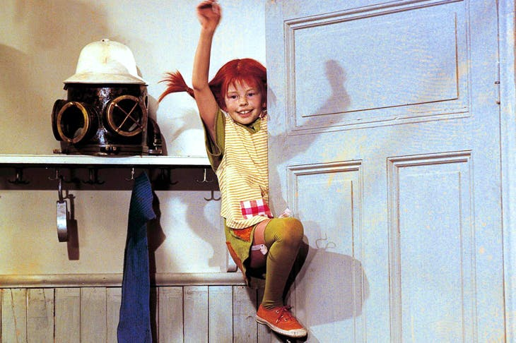 Inger Nilsson as Pippi Longstocking in the Swedish television series. Astrid Lindgren drew deeply on her own childhood for her books