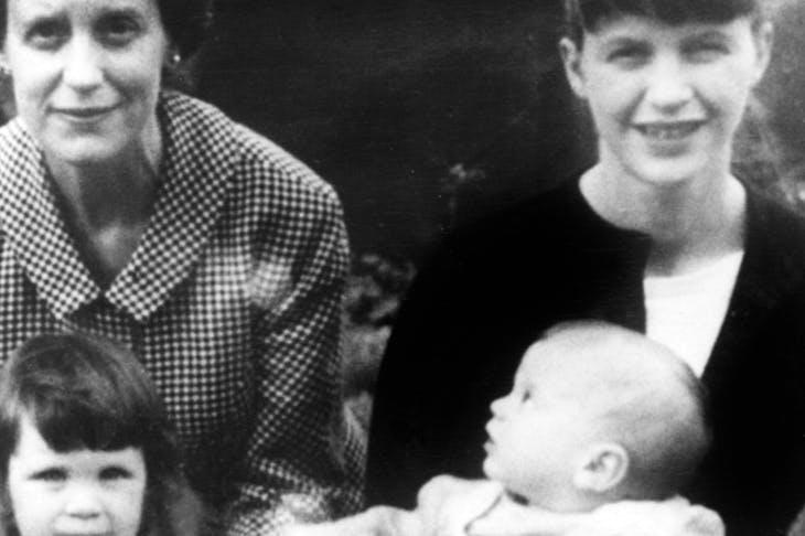 Sylvia Plath with her two children and her mother Aurelia in Devon c. 1962