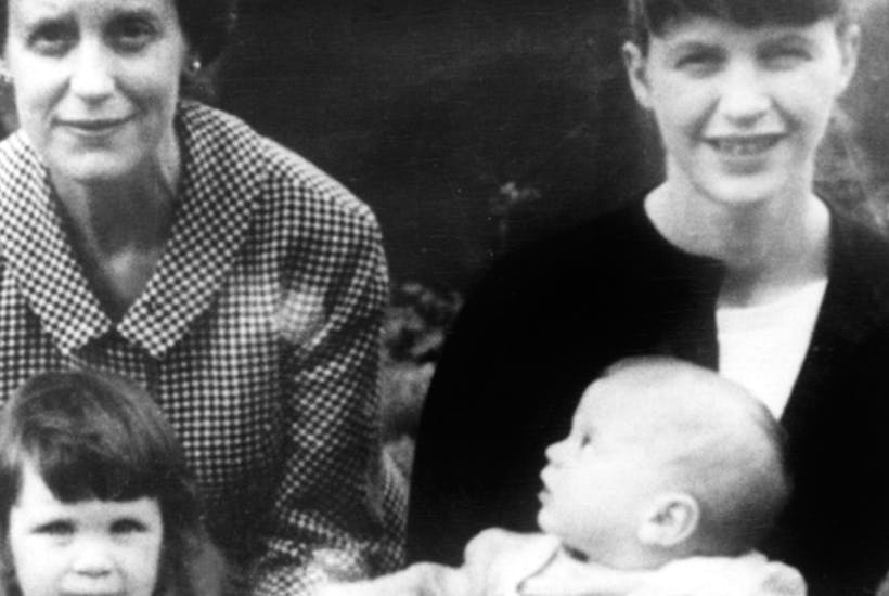 Sylvia Plath with her two children and her mother Aurelia in Devon c. 1962
