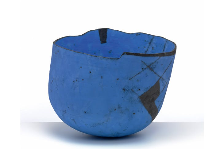 'Massive blue bowl', 1991, by Gordon Baldwin