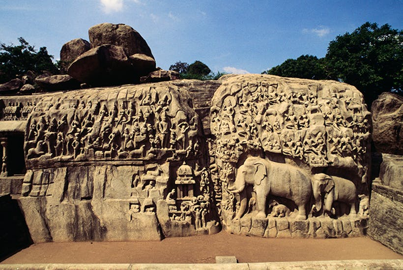 What a relief: 'Descent of the Ganges' or 'Arjuna's Penance', 7th century