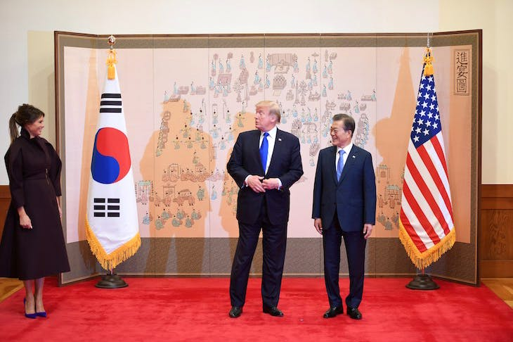 Donald Trump and Moon Jae-In (image: Getty)