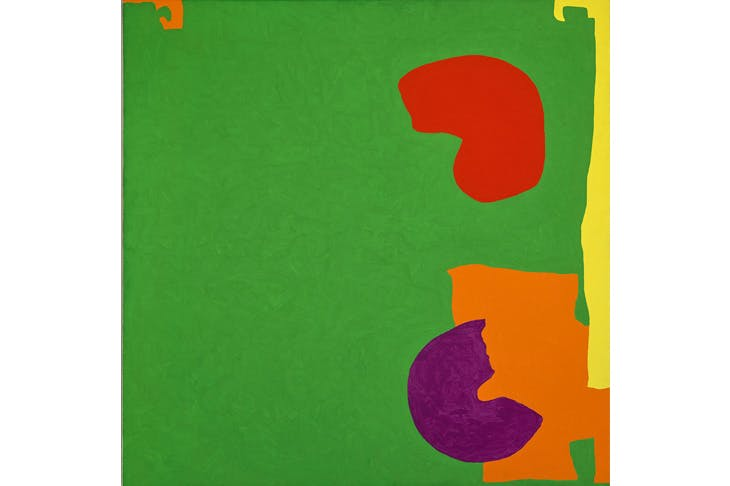 Astonishing splashes of colour: 'Square Green with Orange, Violet and Lemon', 1969, by Patrick Heron