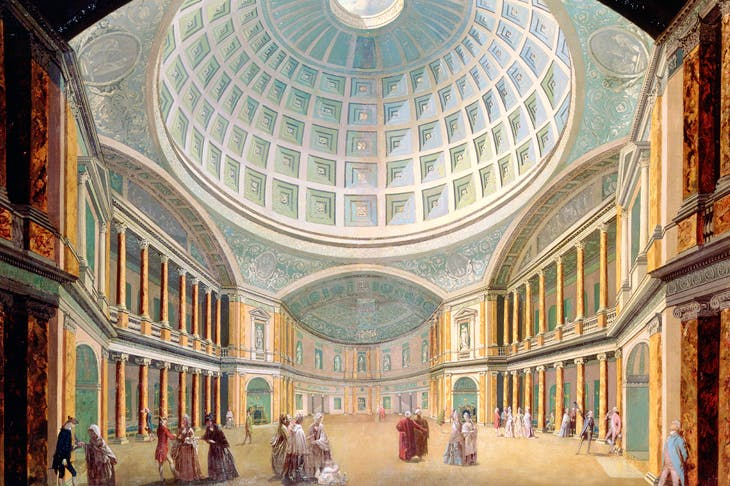 Remembrance of things past: interior of the Pantheon, Oxford Street, 18th century, by William Hodges, demolished in 1937