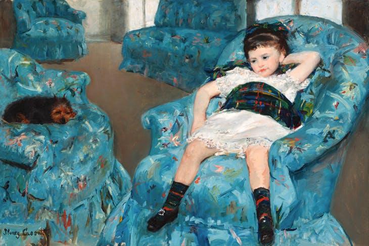 'Little Girl in a Blue Armchair', 1878, by Mary Cassatt