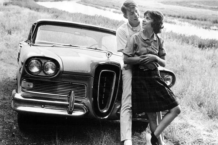 Ron Howard and Cindy Williams in a scene from American Grafitti