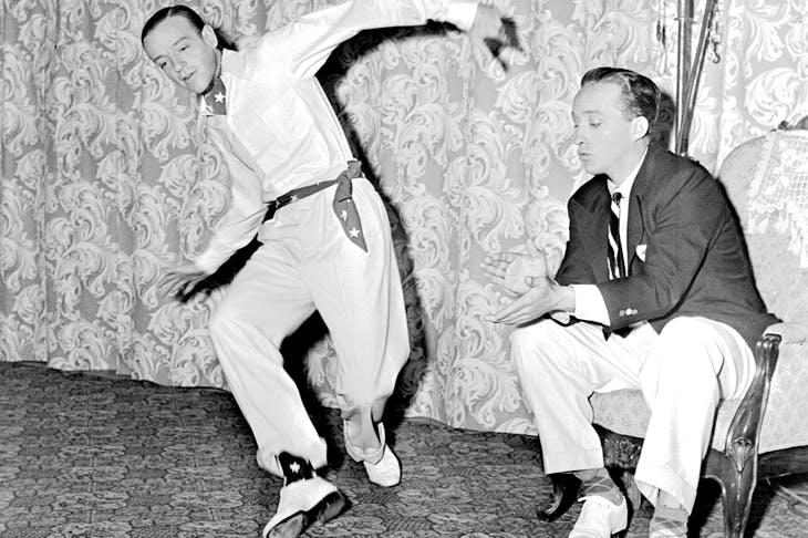Dancing feat: Fred Astaire and Bing Crosby rehearsing choreography for Blue Skies