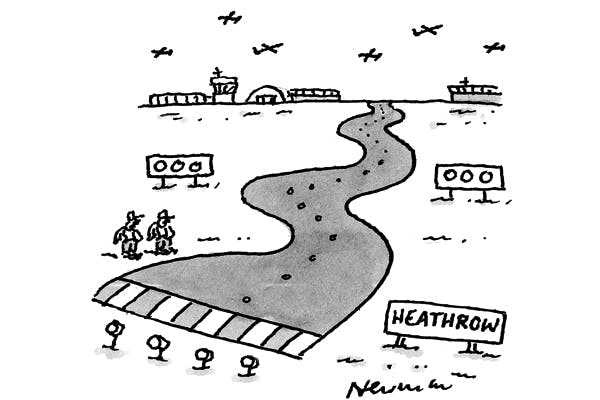 'This is the new runway for drunk BA pilots.'