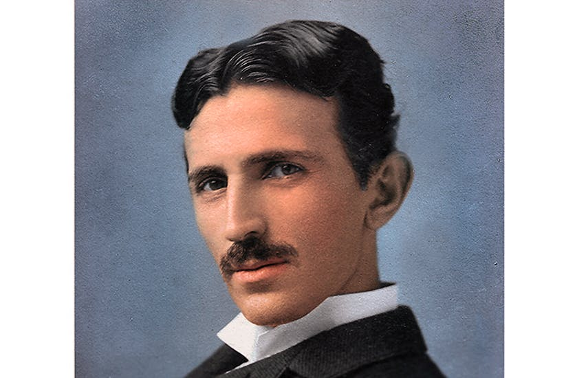 Nikola Tesla — a man of pyrotechnic intelligence, comparable to Einstein, Marconi and Edison