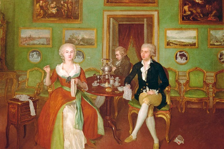 View of a drawing room, c. 1780 by Philip Reinagle