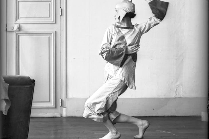 A rare photograph by Bernice Abbott of Lucia Joyce dancing in the 1920s