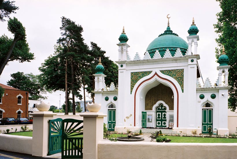 One of Britain's first mosques, the Shah Jahan,Woking, completed in 1889 and financed by the female ruler of Bhopal