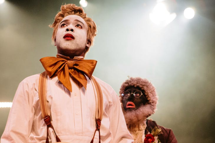 Ken Nwosu and Alistair Toovey in An Octoroon at the National Theatre