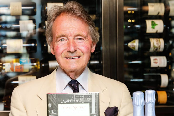 Steven Spurrier at the launch of Wine — A Way of Life. Credit Getty Images