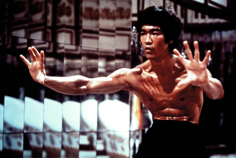 Bruce Lee in a scene from Enter the Dragon