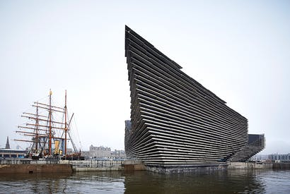 Like a multistorey car park on the run, Kengo Kuma's V&A Dundee sits alongside R.F. Scott's polar expedition vessel, RRS Discovery