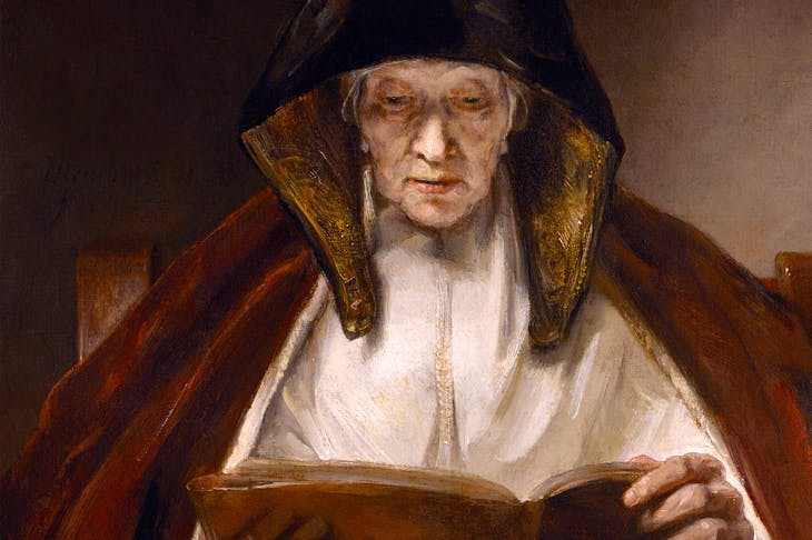 Face value: 'An Old Woman Reading', 1655, by Rembrandt, on show in Rembrandt: Britain's Discovery of the Master at the National Galleries of Scotland