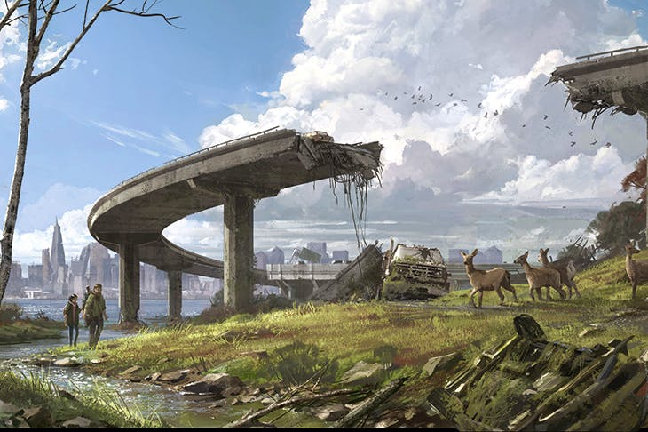 The play's the thing: concept art for The Last of Us™ , 2013–14, created by Naughty Dog