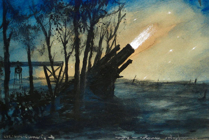 'Camo 15-Inch Howitzer', 1916, by F.J. Mears