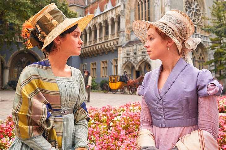 Sharp practice: Olivia Cooke and Claudia Jessie in Vanity Fair