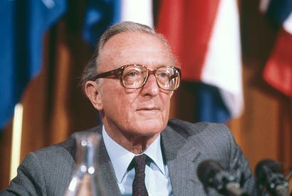 Lord Carrington. Credit: Getty Images