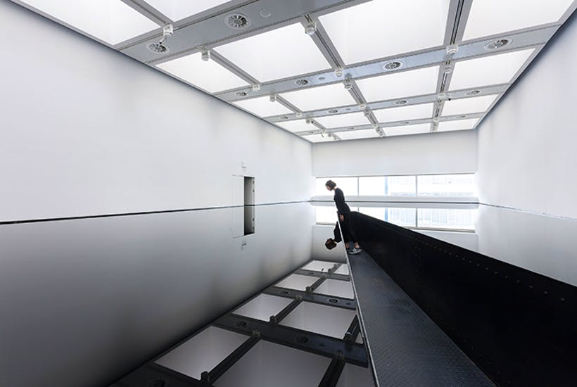 Black mirror: '20:50', 1987, by Richard Wilson at the Hayward Gallery