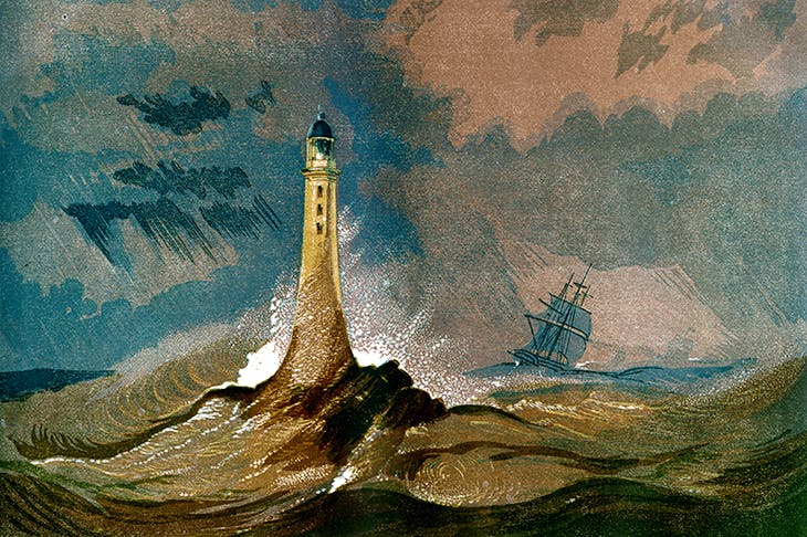 John Smeaton's Eddystone Lighthouse, Devon, 1850