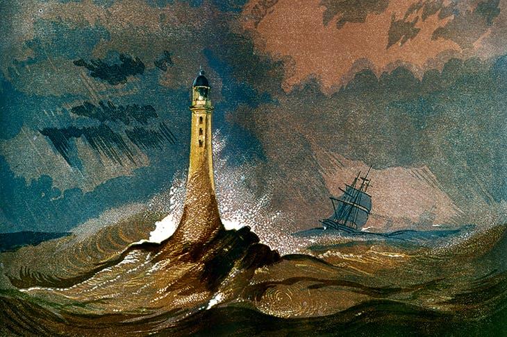 John Smeaton's Eddystone Lighthouse, Devon, 1850