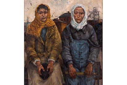 'Pit Brow Lasses', 2015, by David Venables