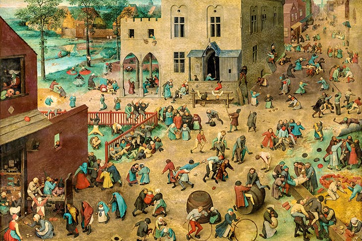 'Children's Games',1560, by Pieter Bruegel the Elder
