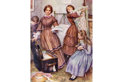Little Women, Chapter IX: 'Meg Goes to Vanity Fair'. Her sisters help her pack