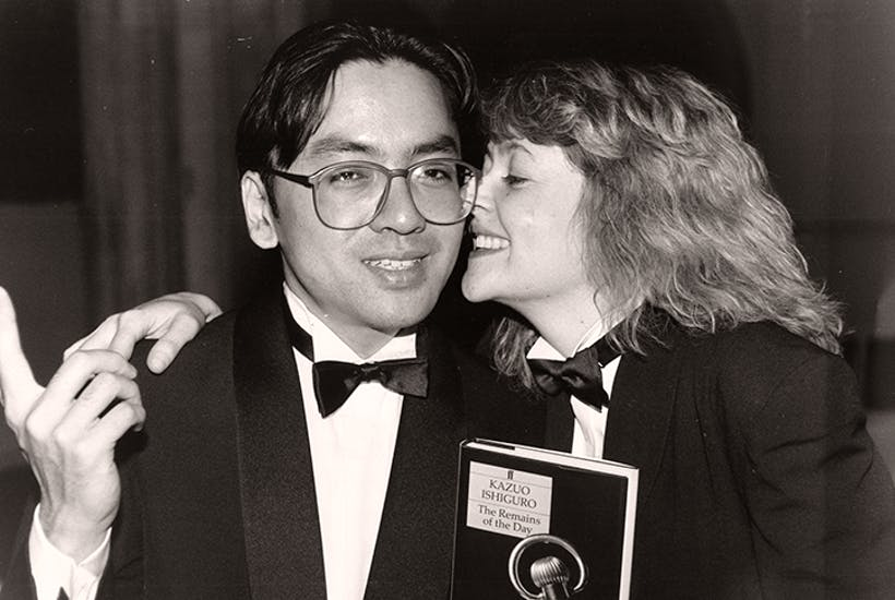 Kazuo Ishiguro winning the Booker Prize in 1989. Photo: Alex Lentati/ Associated Newspapers/ REX/ Shutterstock