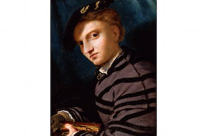 'Portrait of a Young Man with a Book', c.1524–6, by Lorenzo Lotto