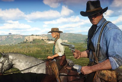 Games without frontiers: a scene from Red Dead Redemption 2