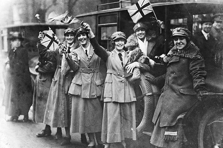 Members of the Women's Royal Australian Naval Service (WRANS) celebrate Armistice Day, 1918 in London